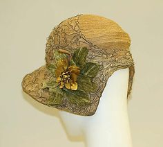 1920s, straw with lace