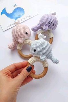 Crochet Whale, Crochet Baby Toys, Newborn Crochet, Crochet Gifts, Crochet Dolls, Kawaii Crochet, Baby Knitting, Crochet Animal Patterns, Crochet Patterns Amigurumi