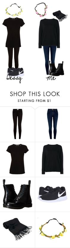 """twin day"" by killerbarbiexoxo-123 on Polyvore featuring New Look, River Island, Vince, Frame Denim, Dr. Martens, NIKE and Forzieri"