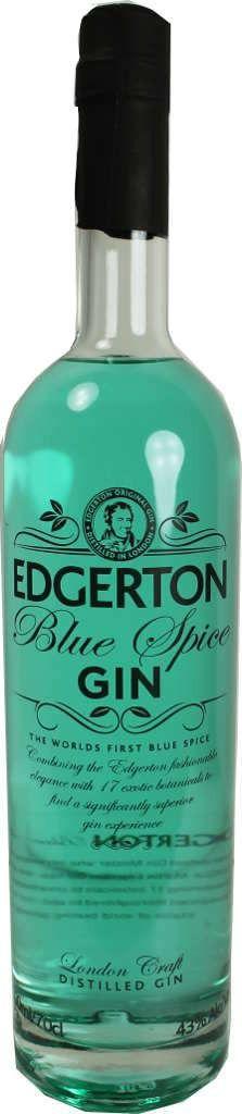 Gin von Edgerton in der 0,7 l Flasche mit 43 % Vol. Alc. mit Farbstoff