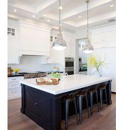Contrasting Kitchen Islands Pinterest White Kitchen