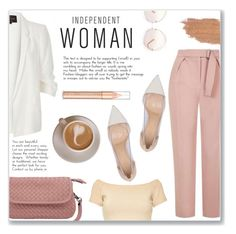 """Independent Woman"" by steph-soto ❤ liked on Polyvore featuring River Island, Topshop, Gianvito Rossi, Jane Iredale, Chloé and Alice + Olivia"