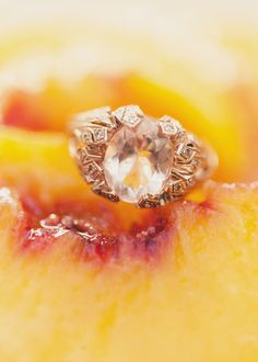 pink engagement ring // photo by Alixann Loosle // http://ruffledblog.com/bohemian-utah-wedding