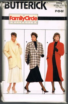 1980s Winter Coat Pattern  Uncut  Butterick by NeesysOtherLife