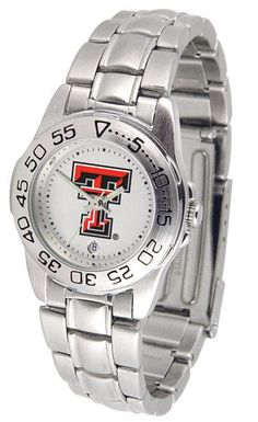 Texas Tech Red Raiders Ladies Sport Steel Watch