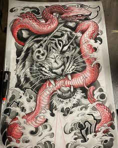 Japan Tattoo Design, Sketch Tattoo Design, Tattoo Sketches, Tattoo Drawings, Tattoo Designs, Japanese Tattoos For Men, Japanese Tattoo Art, Japanese Sleeve Tattoos, Red Ink Tattoos