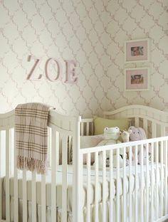I love wallpaper in a nursery!! 50's style nursery   royal t designs: MASSUCCO WARNER MILLER BEDROOMS
