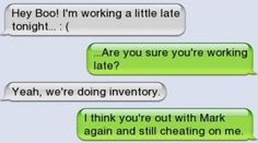 10 caught cheating text messages that will make you cringe Cheating Text Messages, Cheating Texts, Caught Cheating, Teenager Posts Boyfriend, Boyfriend Texts, Boyfriend Humor, Funny Texts Crush, Funny Text Fails, Text Jokes