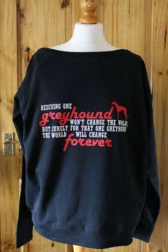 Greyhound Jumper Greyhound Sweater Greyhound by ButterflyEffect22