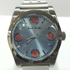 Paul Smith - Analog Watch with Blue Dial with Orange Cardinal Number Dots