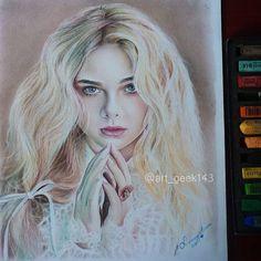 Learning #softpastell #ellefanning on #canson #sketchpad  #art #artist #artists_magazine #arts_help #artist_4_help #illustration #drawing #sketches #sketch #draws #disney #fanart #doll #maleficent #aurora #artnerd2014