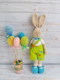 Items similar to Hare knitted toy hare crochet stuffed toys gift for children handmade toys birthday gift decor for children's room amigurumi Easter decor on Etsy Crochet Rabbit, Crochet Toys, Girlfriend Birthday, Toys Shop, Amigurumi Toys, Stuffed Toys Patterns, Handmade Toys, Hare, Gifts For Kids