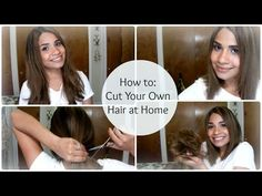 youtube how to cut your own hair short