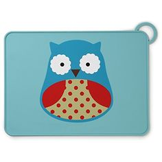 Skip Hop Baby Zoo Little Kid and Toddler Fold and Go Non-Slip, Food-Grade Silicone Placemat, Multi, Otis Owl - Our ZOO fold and go placemat for kids is the go-anywhere mealtime solution, with a non-slip surface and built-in loop closure. Just roll the mat up, fold it in half, then wrap the loop around so it won't unfold in your bag. Featuring our signature Zoo characters, it's made of food-grade, satin-to...