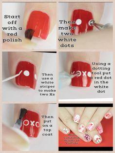XOXO nail by cutepolish
