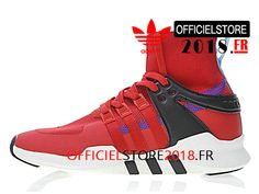 detailed look aa674 e4a9b Adidas Originals Homme Chaussures EQT Support ADV Sock Prix Pas Cher Rouge  Noir BY8306-BY8306