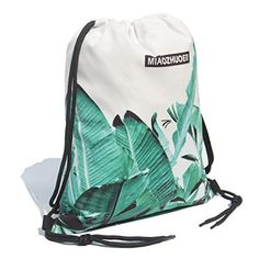 All Row Tree Landscape Drawstring Backpack Sports Athletic Gym Cinch Sack String Storage Bags for Hiking Travel Beach