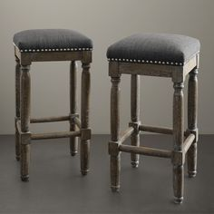 Renate Grey Bar Stools (Set of 2) - Overstock™ Shopping - Great Deals on Bar Stools