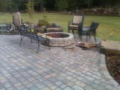 Maybe we should do a pavers porch instead of the wood porch and a firepit.