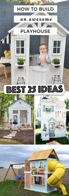 25 Amazing Outdoor Playhouse Ideas to Keep Your Kids Occupied! #playhousebuildingplans
