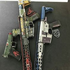 s3a-wolf:  Cross Machine Tool Star Wars carbines. Painted by @blowndeadline on Instagram.