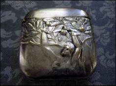 Art Nouveau plata Vesta Match Safe Antique Circa 1900 por kambriel, $150.00