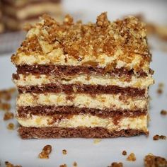 desszert stories and pictures at blikkruzs. Sweet Desserts, Sweet Recipes, Delicious Desserts, Yummy Food, Hungarian Desserts, Hungarian Recipes, Cookie Recipes, Dessert Recipes, Torte Cake