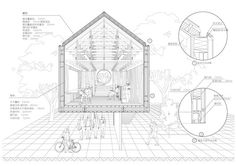 Architectural Drawing Design Image 60 of 81 from gallery of The 80 Best Architecture Drawings of 2017 (So Far). © Jiaqian Yuan - Image 60 of 81 from gallery of The 80 Best Architecture Drawings of 2017 (So Far). Section Drawing Architecture, Detail Architecture, Architecture Graphics, Amazing Architecture, Landscape Architecture, Landscape Design, Architecture Models, Architecture Diagrams, Architecture Collage