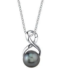 Infinity pearl necklace in black Sale - Radiance Pearl Sale