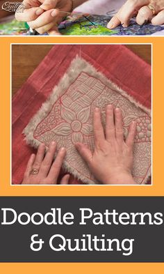 In this video, Heather Thomas makes sure you are doodling with meaning. Learn about designs that use straight or curvy line designs and some that combine the two. She shows you free motion loops, swirls, circles, clam shell, geography/thumbprint, strait edge spiral, squares, making tracks, and a basket weave.