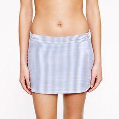 Seersucker beach skirt - patterns & prints - Women's swim - J.Crew