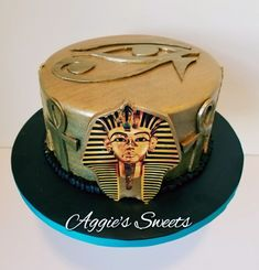 Blue Birthday Parties, Adult Birthday Cakes, Themed Birthday Cakes, Themed Cakes, Egyptian Themed Party, Dance Cakes, Egyptian Wedding, Dad Cake, Sweet 16 Cakes