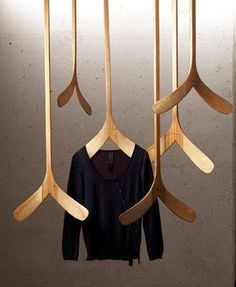 Canadiana clothing hanger.