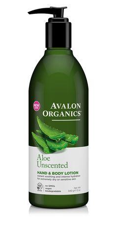 AVALON ORGANICS: Hand & Body Lotion Aloe Unscented, 12 Oz