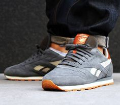 Reebok Classic Leather Suede – Rivet Grey / Paperwhite – Brass