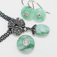 Trollbeads genuine emerald jewelry. Available at Atlanta Diamond Design.