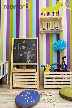 roomor!: kid's room, crates, kid's deco,