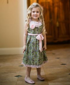 Love this Spring Paisley Chiffon-Trim Dress - Infant, Toddler & Girls by Trish Scully Child on #zulily! #zulilyfinds