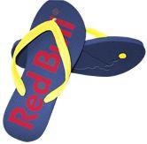 Branded Flip Flops Red Bull