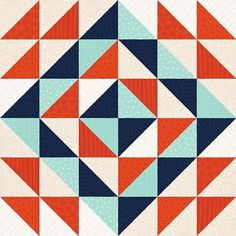 "Fun ""Triangle Quilt"" pattern by Lindsay Nohl."