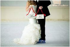 Ice skating winter wedding photos.  Colorado winter wedding inspiration by Estes Park wedding photographer Plum Pretty Photography.