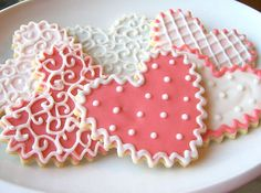 Heart Sugar Cookies Heart Shabby Chic by SugarMeDesserterie