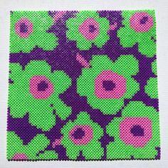 Marimekko design hama  perler beads by pysslomanen