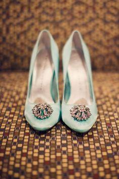 Marie Antionette Inspired Brooch Shoes http://vintagetearoses.com/marie-antoinette-wedding-inspiration/ #shoes #wedding #marieantoinette