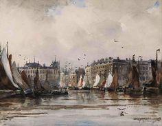 Johan H. van Mastenbroek, Schepen in Oude Haven te Rotterdam, 1893