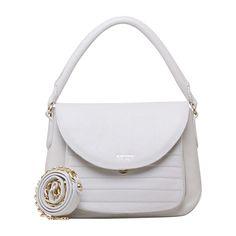 Bag / bolsas Bolsa de mão Bolsa de couro feminina carmim lydia marfim - Carmim Store
