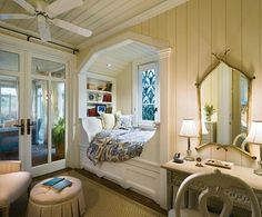 I have an addiction to beautiful built in beds, love the idea for Brooklyn's room... one day :)
