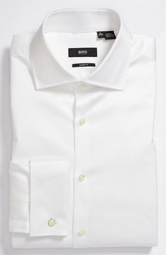 BOSS White Dress Shirt. Power Closer Shirt and your main basic classic. The House of Q