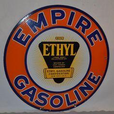 Porcelain Empire Gasoline sign