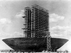 construção do Congresso, foto Agnor Gomes de farias, DPH DF